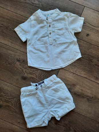 Набір рубашка та шорти (льон) 6-9
