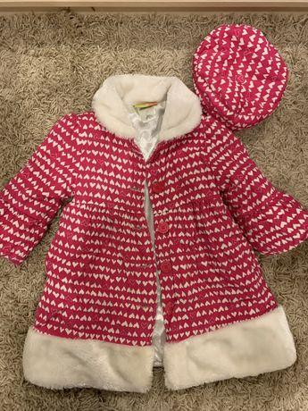 Пальто, штани і кофта для дівчиники 5-6 років