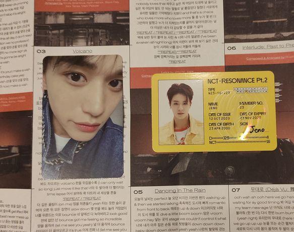 Zamienię karty NCT 2020 WayV Resonance pt.2 Jeno Lucas kpop album