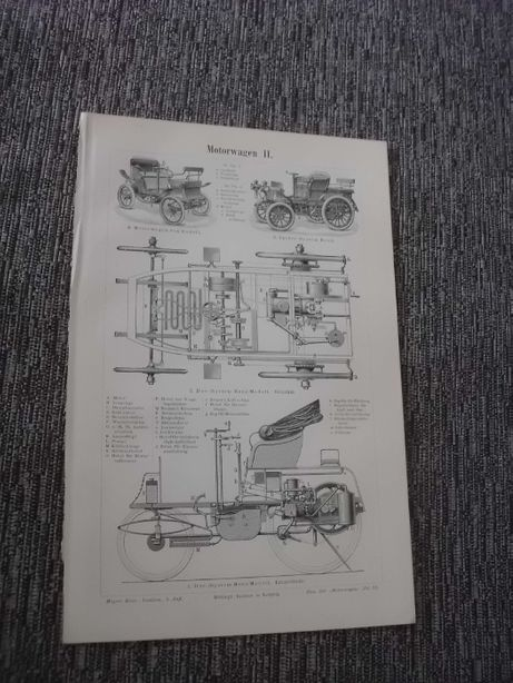 Stare pojazdy, wozy strażackie oryginalne XIX w. grafiki do aranżacji