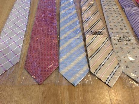 Krawaty męskie 19 sztuk- orginalne Nowe! różne kolory