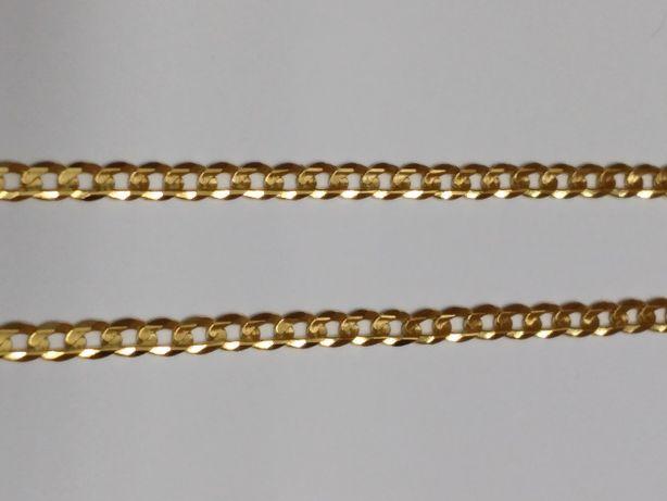 Nowy , Pełny złoty łańcuszek , żółte złoto 0,585 (pancerka)