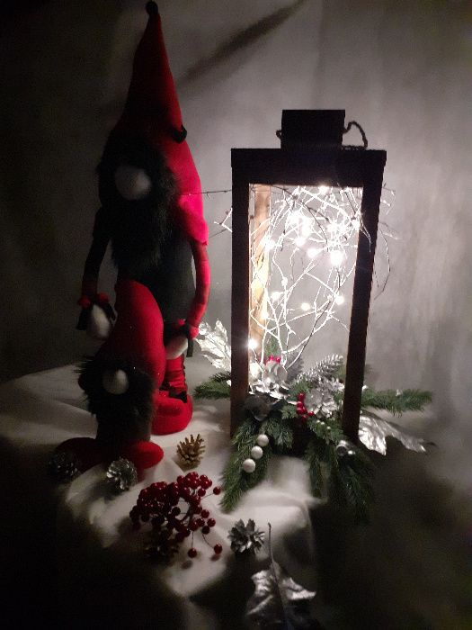 stare drewno,lampion,LED,dekoracja świąteczna,rękodzieło,handmade Grabów nad Prosną - image 1
