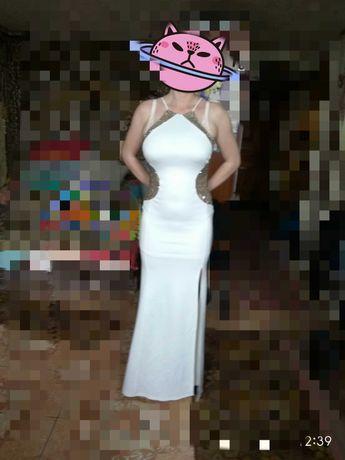 Платье белое свадебное, выпускное