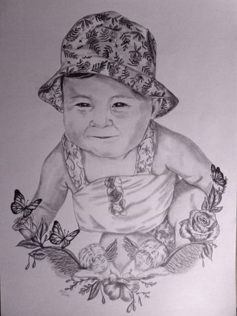 Faço desenhos / retratos