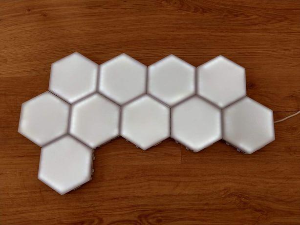 Lampy modułowe hexagram dotykowe
