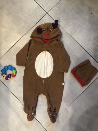 Новогодний костюм , теплый человекек 3-6 мес