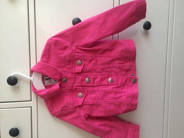 Kurtka jeansowa różowa rozm 98cm