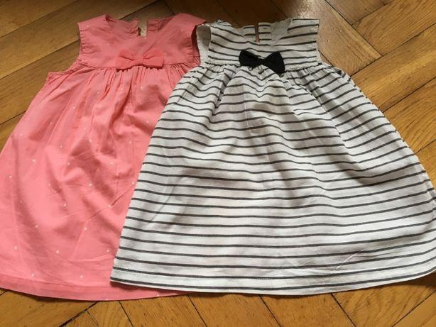 2pak sukienki/tuniki rozmiar 80 H&M