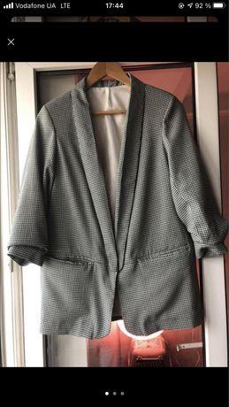 Пиджак зеленый гусиные лапки