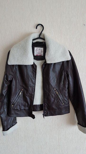 Куртка-дублёнка детская, р.158