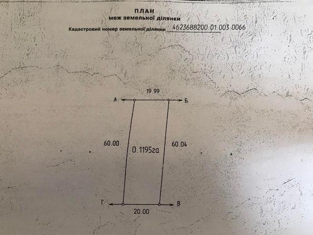 Продаж ділянки під будівництво с.Чишки