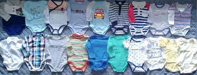 Paka Zestaw Body spodnie pajace sweter h&m rozmiar 68 + GRATIS