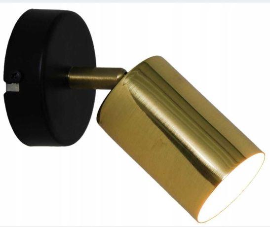 Lampa ścienna sufitowa dwa kinkiet czarny złoty