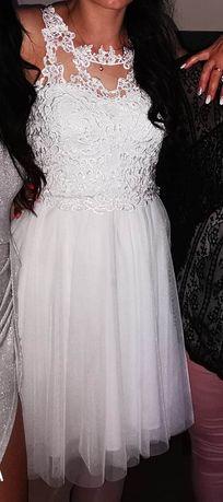Biała suknia  uniwersalna sukienka slub poprawiny