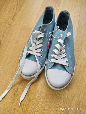 Trampki niebieskie (jasny jeans) SINSAY rozm. 41 (26,5) nowe