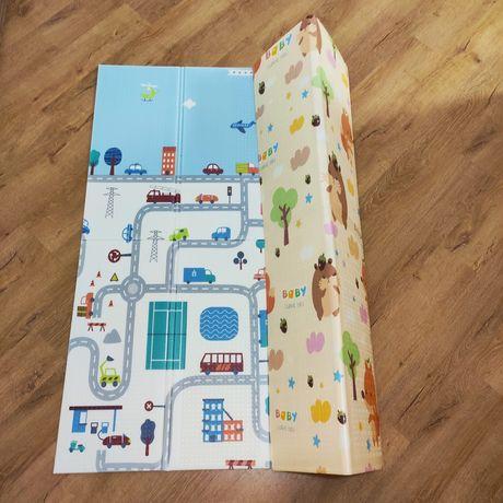 Детский складной коврик, игровой коврик Бебипол 200х180х1см