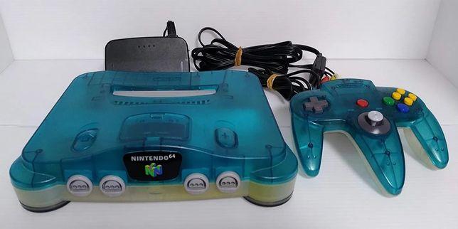 Nintendo 64 edição limitada azul transparente