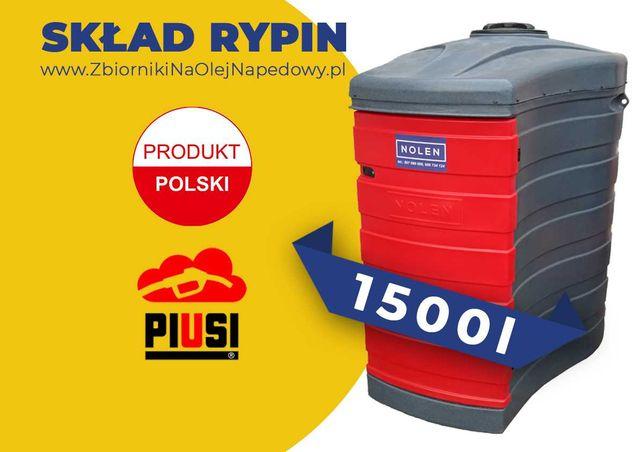 Skład Rypin - Zbiornik 1500L na olej napędowy, paliwo ON 1000L 2000L