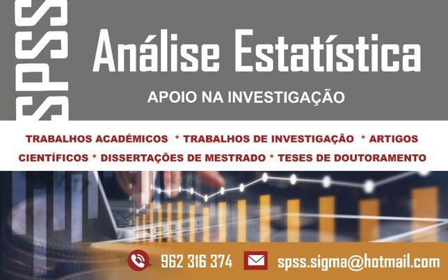 SPSS Análise Estatística, Teses de mestrado, dissertações, Trabalhos