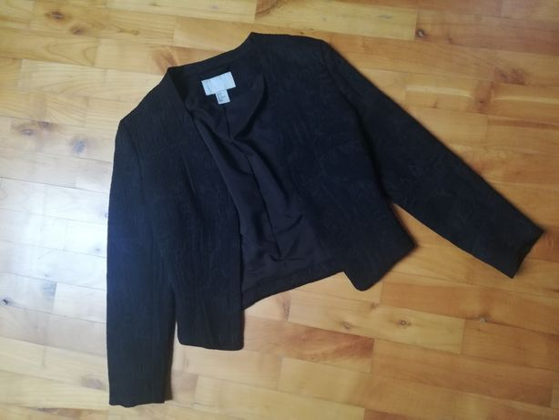 Żakiet elegancki czarny H&m