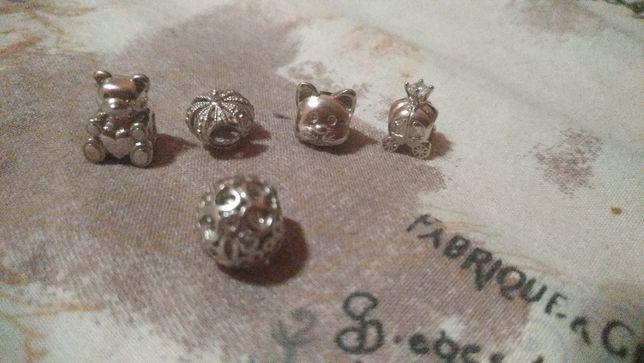 Серебряные бусины пандора