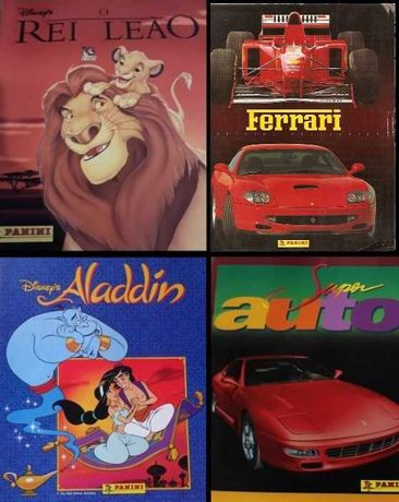 ATUALIZADO - Cromos Panini: Dragon Ball, Rei Leão, Aladdin, Ferrari...