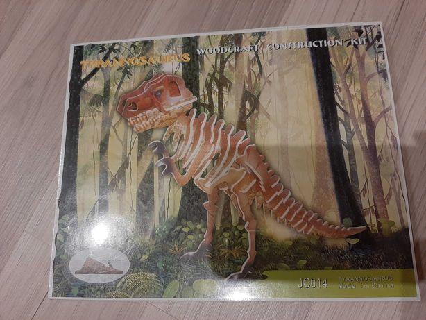 Trójwymiarowe puzzle tyranozaur