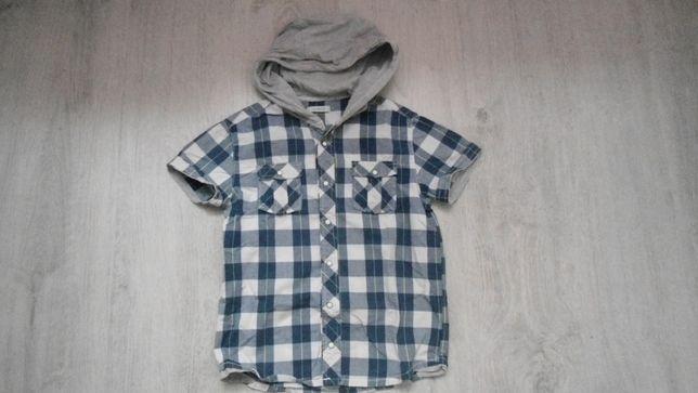 Koszula z krótkim rękawem na 122 cm