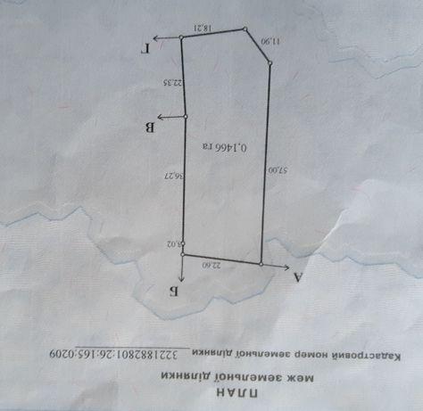 Продам земельну ділянку в селі Жукин