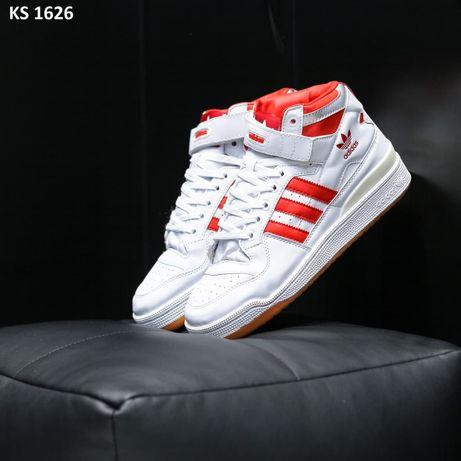 Adidas Forum Mid Refined (бело/красные)