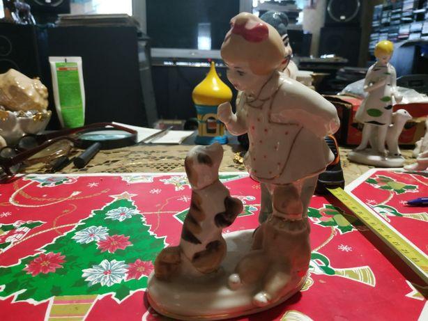 игрушка девочка с собачкой