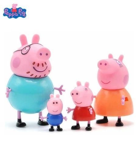 PEPPA PIG SWINKA PEPPA Figurki komplet 4szt NOWE!