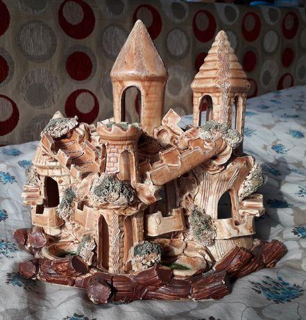 Замок декор в аквариум