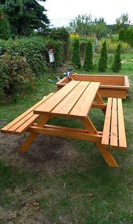 Stół ogrodowy piaskownica altanka