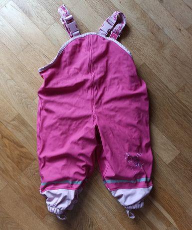 Spodnie dziecięce zimowe na szelkach 86/92 12-24 miesiące
