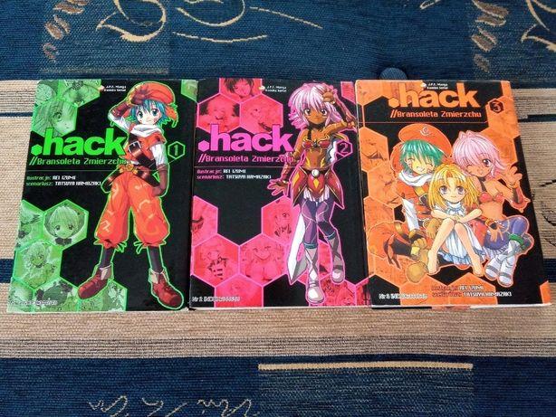 """Manga """".hack//Bransoleta Zmierzchu"""" tomy 1-3, JPF Komedia, Przygodowe,"""