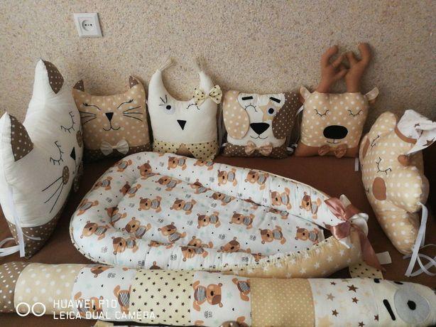 Бортики в кроватку захист у ліжечко
