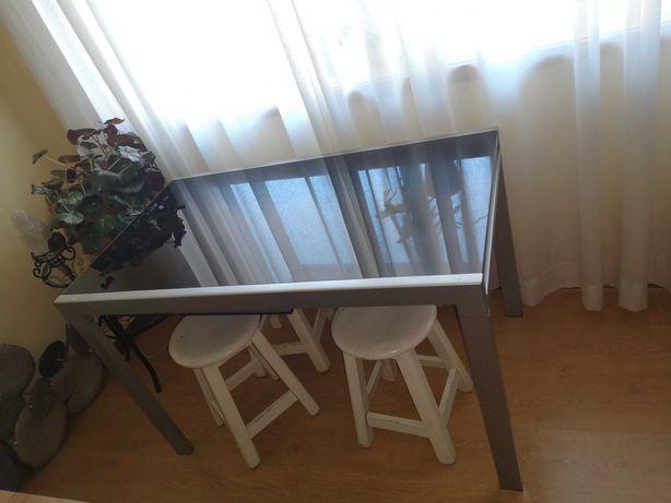 Mesa Cozinha Vidro Preto