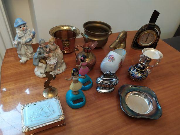 Bibeloty mosiądz figurki srebro