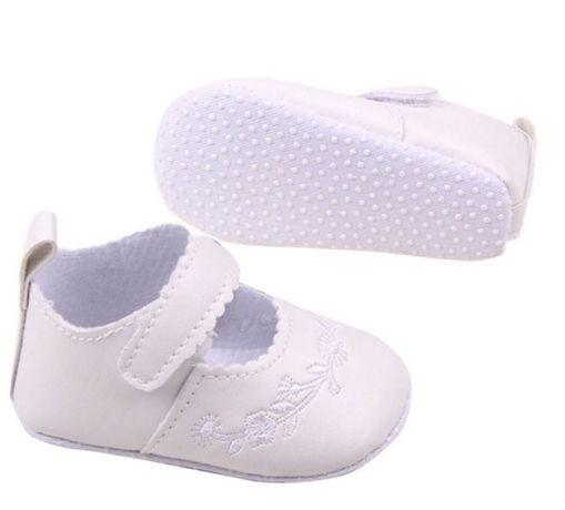 Buciki niechodki niemowlęce eleganckie do chrztu