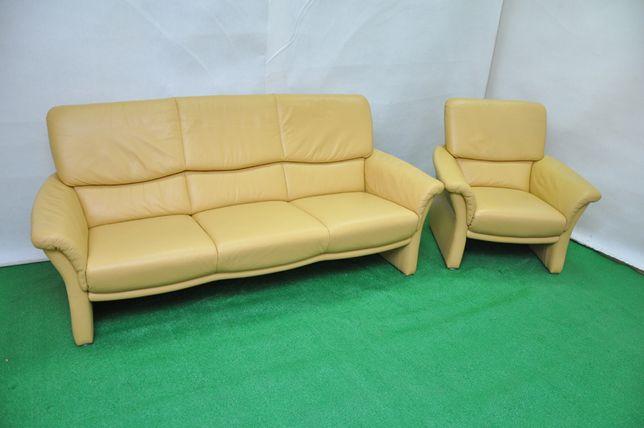 Продам шкіряний комплект! Італія. Кожаный диван, кресло. Диван для дом
