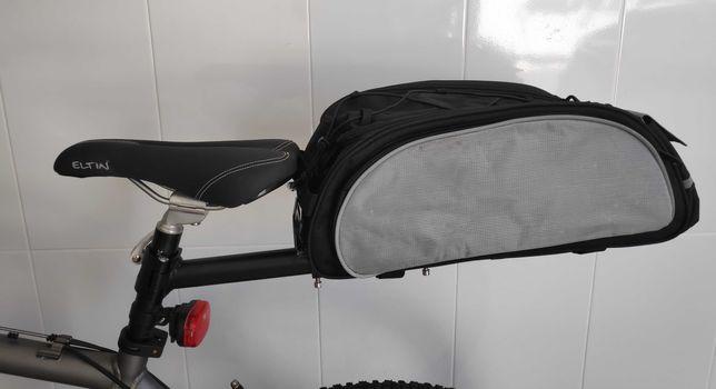 Conjunto Suporte mais saco/bagageira para Bicicleta.