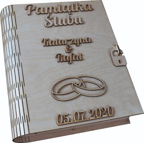 Pamiątka Małżeństwa Pismo Święte Biblia szkatułka na pieniądze grawer