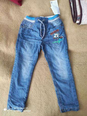 Nowe jeansy z metką 110 chlopiec