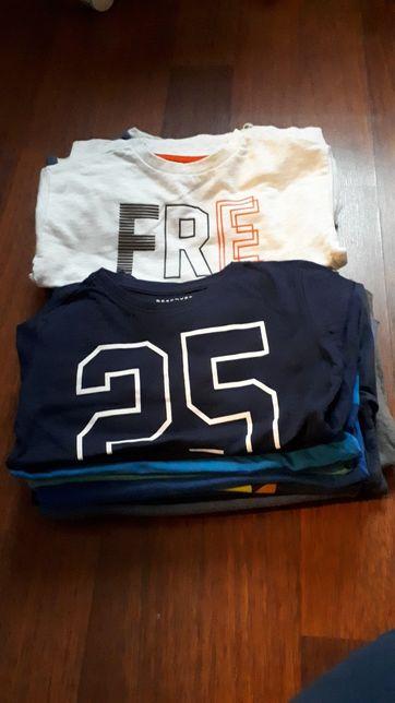 T-shirty 20 szt. z długim rękawem chłopięce r. 110