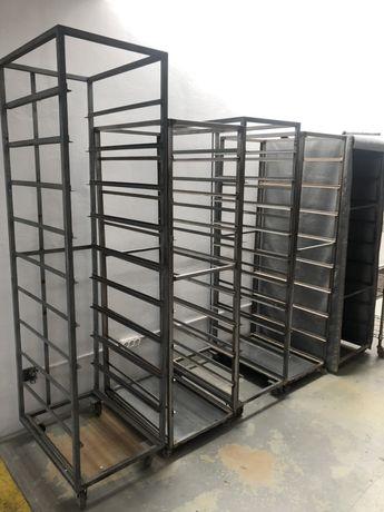 Carrinho porta tabuleiros para padaria , etc