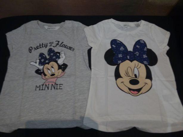 Mickey minnie H and M dwie nowe bluzeczki