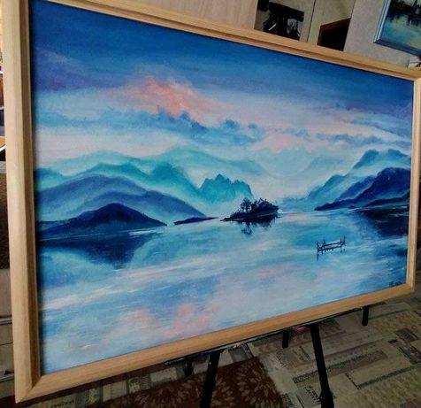 Картина маслом, китайский пейзаж