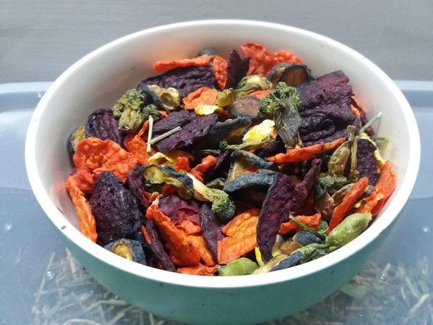 Warzywa suszone - mix dla świnek morskich i innych małych gryzoni